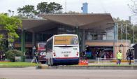 La concesionaria de la terminal bloqueó el ingreso de algunas compañías. Foto: R. Figueredo