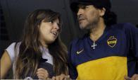 Dalma Maradona y Diego Maradona. Foto: AFP