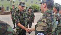 Discrepante: el general Manini Ríos hizo un llamado a efectivos. Foto: F. Ponzetto
