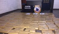Pareja de paraguayos transportaba 159 ladrillos de marihuana. Foto: Néstor Araújo