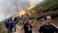 Incendios en España. Foto: EFE