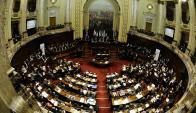Parlamento: los legisladores apuraron el paso y votaron. Foto: D. Borrelli