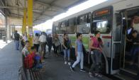 Nueva encuesta le permite afirmar a la comuna que la percepción de suciedad en el trasporte era equivocada. Foto. A. Colmegna