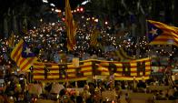 Barcelona: mientras las autoridades deciden qué hacer, en las calles se mantiene la tensión. Foto: AFP