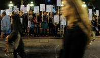 Nuevo asesinato moviliza a las mujeres uruguayas en un año especialmente violento. Foto: F. Ponzetto