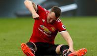 Phil Jones durante el partido del Manchester United. Foto: Reuters