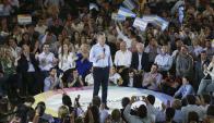 El presidente Mauricio Macri hizo campañas por sus candidatos. Foto: EFE