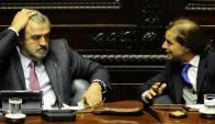 Los principales dirigentes nacionalistas se reunieron ayer en el Palacio Legislativo. Foto: D. Borrelli