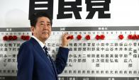 Abe, aliado de Trump y en buenas relaciones con Putin. Foto: AFP