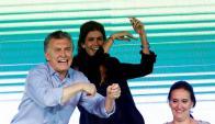 Macri y Awada luego de las elecciones del domingo. Foto: EFE