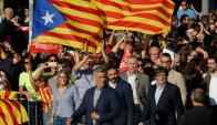 Puigdemont analiza ir al Senado español a explicar su posición. Foto: AFP
