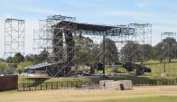 A partir de mañana, el Parque de la Hispanidad quedará cerrado por tareas de montaje. Foto: V. Rodríguez