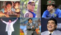 Gordo, flaco, rubio, morocho. Diego Maradona y 20 años como exfutbolista. Foto: La Nación / GDA