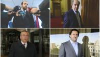 Los cuatro precandidatos colorados. Fotos: Archivo El País.