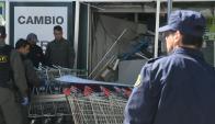 Explotan cajero en Pocitos. Foto. Ariel Colmegna