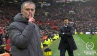José Mourinho mandó a callar a los hinchas en Old Trafford