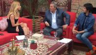 Nicole Neumann, Enrique Antía y Roberto Funes Ugarte