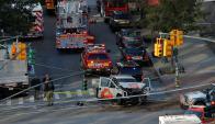 Fuerte despliegue policial por tiroteo en Manhattan. Foto: Reuters
