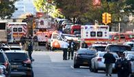 La Policía desplegó efectivos en toda la zona tras atropellamiento múltiple. Foto: AFP