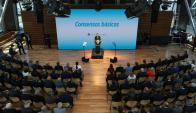 El presidente Macri el lunes cuando anunció su paquete de reforma fiscal y laboral. Foto: casarosada.gob.ar