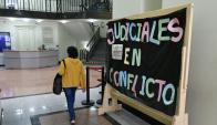 Los judiciales están en conflicto y realizan un paro de 24 horas. Foto: Fernando Ponzetto
