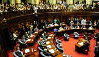 En una extensa y polémica sesión, se aprobó un proyecto de ley sobre financiamiento de los partidos políticos. Foto: F. Flores