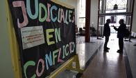 Judiciales en conflicto. Foto: Fernando Ponzetto