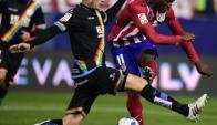 Rayo Vallecano. Su franja se convirtió en el emblema de la comunidad gay. (Foto: AFP)