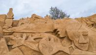 Una escultura de arena del Guernica es la mejor