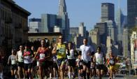 Nueva York: la maratón es un desafío para la seguridad. Foto: AFP