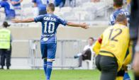 El festejo de Giorgian De Arrascaeta para Cruzeiro. Foto: @Cruzeiro