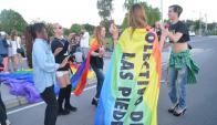 La movida tuvo color y batucada; la comunidad Down se sumó a la marcha. Foto: V. Rodríguez