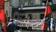 Sindicato del Gas intensificó protestas la última semana. Foto: Ariel Colmegna.