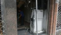 Es el cuarto cajero que explotan en menos de 10 días. Foto: Francisco Flores