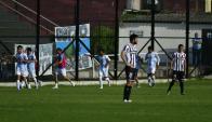 Franco López festejando el primer gol de Cerro ante Wanderers. Foto: Fernando Ponzetto