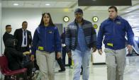 Tyson es escoltado por la Policía chilena. Foto: AFP.