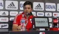 Marcelo Gallardo en la conferencia de prensa de River. Foto: La Nación / GDA