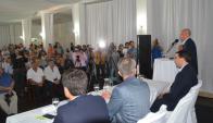 Representantes de UPM se trasladaron a a Paso de los Toros para presentar el proyecto. Foto: V. Rodríguez