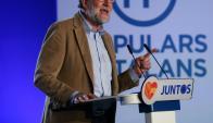 Rajoy en Barcelona en la presentación de los candidatos del PP para diciembre. Foto: Reuters