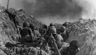 Soldados en una trinchera durante la primera guerra del Golfo Pérsico en 1982. Foto: AFP