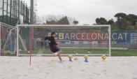 Luis Suárez acelerando su proceso de recuperación