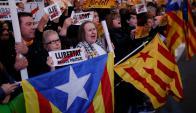 Cataluña: la región se prepara para las elecciones del 21 de diciembre. Foto: AFP