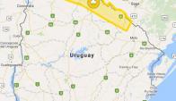 Advertencia amarilla para el norte del país. Imagen: Inumet.