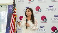 OMEU. La emprendedora chilena disertó en el evento Más Emprendedoras.