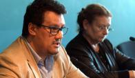 Pablo Maqueira, director en el MEC y Edith Moraes, ministra interina. Foto: Francisco Flores