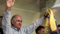 Ledezma: el líder opositor ayer en tierras colombianas. Foto: AFP