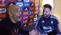 Messi hablando sobre su hijo y el de Suárez