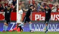 Maxi Gómez festejando el gol del Celta de Vigo. Foto: AFP