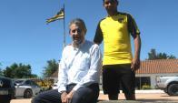 Goleadores. Fernando Morena y Cristian Palacios en Peñarol. Foto: Francisco Flores