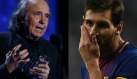 Joan Manuel Serrat le dedicó una carta a Messi. Fotos: Reuters / AFP
